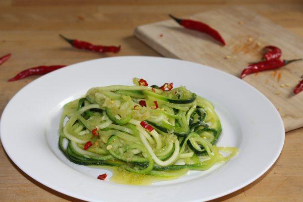 Zoodles aglio e oglio
