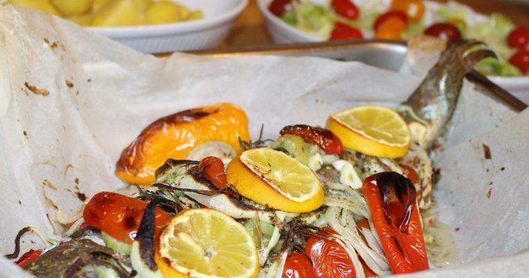 Lachsforelle aus dem Ofen